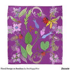 Floral Design on Bandana