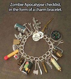 Zombie survival checklist bracelet
