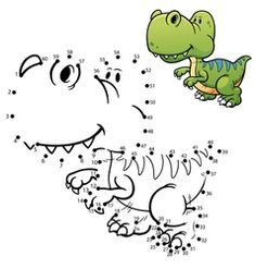 Illustration about Vector Illustration of Education dot to dot game - Dinosaur. Illustration of outline, character, small - 65067271 Dinosaur Outline, Dinosaur Silhouette, Dinosaur Pattern, Lion Vector, Vector Game, Number Vector, Spot The Difference Kids, Preschool Number Worksheets, Dots Game