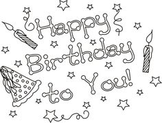 Happy Birthday! | Free Coloring Page - http://makingartfun.com/htm/f ...