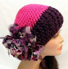 Valentine's+crochet | Valentine's Crochet Flower Hat Autumn Spring Summer by ... | Crochet