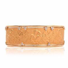 Carrera y Carrera ' Romeo & Juliet ' 18K Yellow Gold Cuff Bracelet Item # 1269104