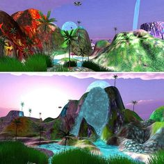 An awesome Virtual Reality pic! Making progress on a 3D psychedelic adventure game island terrain  #wander #wanderlust #nomad #videogame #psychedelicart #psychedelic #trippy #unitygames #artist #xfiles #ufo #iwanttobelieve #alien #surrealism #gamedesign #waterfall #volcano #scenic #island #paradise #explore #landscape #3d #creativity #alien #tumblr #terrain #seapunk #palmtrees #virtualreality by _mindflowers check us out: http://bit.ly/1KyLetq