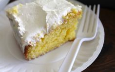 lemon cake with butter cream frosting