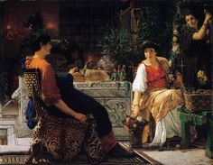 """Preparations for the Festivities"", 1866, by Sir Lawrence Alma-Tadema (Dutch, 1836-1912)."