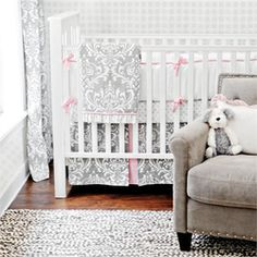 @rosenberryrooms is offering $20 OFF your purchase! Share the news and save! (*Minimum purchase required.) Stella Gray Crib Bedding Set #rosenberryrooms