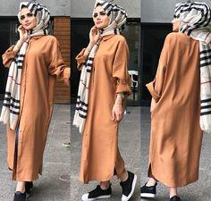 Hijab Fashion 2016, Modest Fashion Hijab, Modern Hijab Fashion, Frock Fashion, Abaya Fashion, Muslim Fashion, Fashion Dresses, Hijab Style Dress, Casual Hijab Outfit