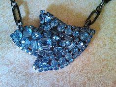 Vintage brooch necklace by JNPVintageJewelry on Etsy, $149.00
