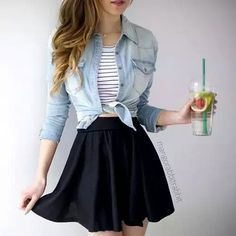 There are just no hard and quick rules in regards to girly outfits. Thus, be sure to dress up in bright and stylish outfits. If you're trying to find the best winter wear outfit, you don̵… Teen Fashion Outfits, Mode Outfits, Cute Fashion, Look Fashion, Trendy Outfits, Cute Skirt Outfits, Circle Skirt Outfits, Fashion Ideas, Fashion Trends