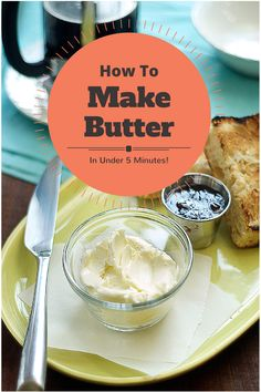 How To Make butter in Under 5 minutes. Homemade butter is a delicious treat and of higher quality than store bought butter. All you need is cream and salt.