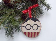 Harry Potter Ornament Wood Slice Ornament by BugabooBearDesigns, $9.00
