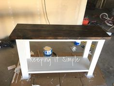 How to build a sofa table for only $30 using 2x4s, 2x2s and 2x8s. You can make it to whatever size that you want and style it how you want. Diy Sofa Table, Sofa Tables, Entry Tables, Diy Entryway Table, Farmhouse Sofa Table, Dining Table, Diy Side Tables, Wall Table Diy, Pallet Entry Table