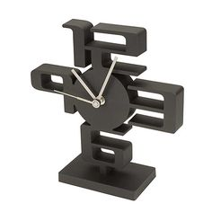 Moulded geometric desk clock by Umbra. Designed by Chris Barnes with the Umbra design group. Clock Art, Diy Clock, Cnc, Modern Clock, Modern Desk, Wall Clock Wooden, Tabletop Clocks, Cool Clocks, Wall Clock Design