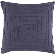 Decorative Kemi 20-inch Down/Polyester Filled Throw Pillow (Polyester - Lavender), Purple, Size 20 x 20 (Cotton, Embroidered)