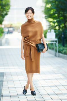 Knit of setup, this autumn compete on design | fashionable tips, still SNAP is in the town SNAP |!! Mi-mollet (midi) | Kodansha