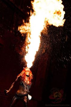 Pyrohex Our fire dragon Shelly d'Inferno at our video shoot a few weeks ago   Photo by Red Dragon Films Ltd