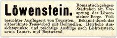 Original-Werbung / Anzeige 1913 - LÖWENSTEIN - ca. 60 x 20 mm