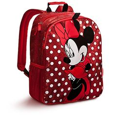 Disney Store Sparkling Red Minnie Mouse Backpack « Clothing Impulse i want this! Minnie Mouse Backpack, Red Minnie Mouse, Mickey Mouse And Friends, Mini Mochila, Red Backpack, Rucksack Bag, Disney Purse, Polka Dot Bags, Metallic Bag