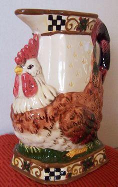 """Artmark 8"""" Rooster Chicken pitcher"""