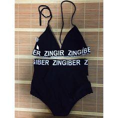 Zingiber 2016 letras pretas das mulheres impressão de cintura alta envoltório brasileira bikinis set swimwear swimsuit praia de banho suit s m l em Conjunto biquínis de Sports & Entretenimento no AliExpress.com | Alibaba Group