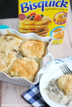 Sausage and Gravy Breakfast Casserole: this delicious, make ahead breakfast idea is perfect for those hectic mornings or holidays! #getyourbettyon