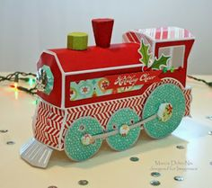 Holiday Express - Imaginisce Colors of Christmas and a SVGcuts file, designed by Marcia Dehn-Nix