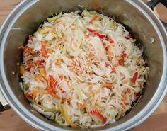 Čalamáda připravena za studena, bez sterilizace a s fantastickou chutí. | NejRecept.cz Graham Crackers, Thing 1, Catering, Side Dishes, Cabbage, Salads, Food And Drink, Vegetarian, Vegetables