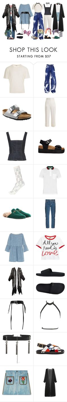 """""""Hard to be myself Fickle Friends cover in YouTube summer sessions"""" by a-never-want-to-grewer99 ❤ liked on Polyvore featuring Yves Saint Laurent, Dsquared2, Birkenstock, Racil, Truffle, Gucci, Balenciaga, MM6 Maison Margiela, Alice + Olivia and adidas"""