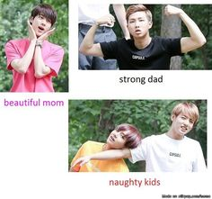 Jimin is the hot uncle and J-Hope is the crazy uncle