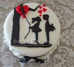 Bolo aniversário de namoro