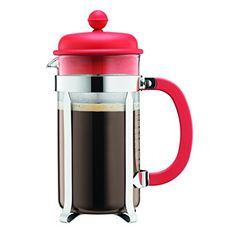 Bodum 1918137B Caffettiera Coffee Maker 8 Cup10 L34 oz Red ** Click image to review more details.