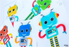ROBOT Play Dough Game Printables- These are the cutest little guys!