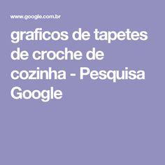 graficos de tapetes de croche de cozinha - Pesquisa Google