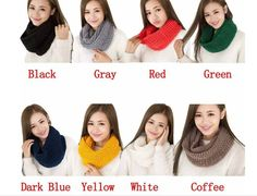 Women Winter Scarves Warm 2 Circle Knitted Ring Scarf Shawl Neck Warmer WCA105 #Unbranded #Scarf