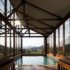 New South Wales, AustraliaEmirates One&Only Wolgan Valley is a luxurious oasis set among Australia's beautiful Blue Mountains, west of Sydney. The ultra-private three-bedroom Wolgan Villa features a swimming pool with views across the valley. Blue Mountains Australia, Gardens Of Stone, One & Only, Beautiful Pools, Beautiful Places, Private Pool, Resort Spa, Best Hotels, Amazing Hotels