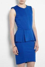 Cobalt Blue Sleeveless Peplum Dress by MSGM