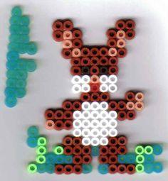 Osterhase Bügelperlen Easter  perler beads