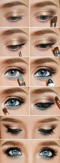 Der ultimative Leitfaden mit 22 Foundation MakeUp-Tipps und 15 Antworten Image via How to Apply Smokey Eyeshadow Step by Step Image via See make-up ideas Step by Step. Make-up in purple and blue tones. Image via Make-up lessons for beginners as bea Beauty Make-up, Beauty Hacks, Hair Beauty, Beauty Tips, Beauty Ideas, Black Beauty, Blue Eye Makeup, Skin Makeup, Blue Eyeshadow