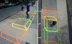 Los colores e ilusiones de la artista Aakash Nihalani, Brooklyn