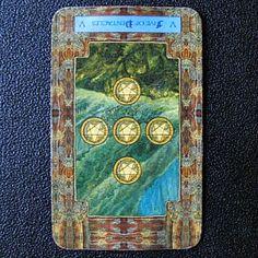 Daily Dragon Tarot: Reversed Five of Pentacles