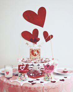 Valentine Table Decoration Ideas valentine table scape 20 Awesome Valentine Table Decoration