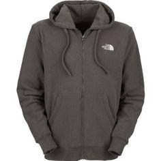 Mens The North Face Logo Full Zip Hoodie Graphite Grey $69.99