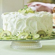 Key Lime Buttercream Frosting | This key lime frosting is refreshing and easy. It only takes 10 minutes to prepare and can be doubled if you love lots of frosting. | SouthernLiving.com
