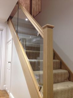 20 Luxury Glass Stairs Design Ideas For You This Year Modern Staircase design Glass ideas Luxury Stairs Year Glass Stair Balustrade, Staircase Handrail, House Staircase, Staircase Remodel, Staircase Makeover, Modern Staircase, Glass Railing, Bannister, Spiral Staircases