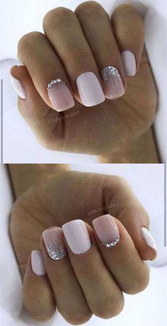 50 Stylish Acrylic White Nail Designs and Ideas 2019 # hair ., 50 Stylish Acrylic White Nail Designs and Ideas 2019 # hair White Nail Designs, Acrylic Nail Designs, Nail Art Designs, Neutral Nail Designs, Weihnachten Make-up, White Acrylic Nails, White Chrome Nails, Pink White Nails, White Manicure