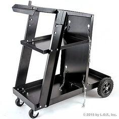 Welder-Welding-Cart-Plasma-Cutter-MIG-TIG-ARC-Universal-Storage-for-Tanks-New