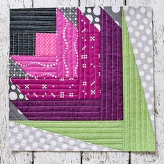 Scottish Thistle QAYG Block | Love Outlander? Then you'll love this Scottish inspired quilt block!