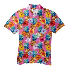 Seriously, how could you not *Aloha* this shirt? Pineapple Punch, Crop Tops, Tank Tops, Sweater Outfits, Men's Polo, Onesies, Polo Shirts, Men Casual, Hoodies