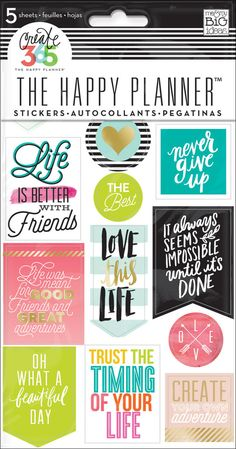 Life Quotes stickers for The Happy Planner™ | me & my BIG ideas