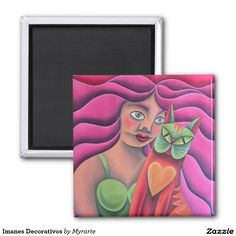 Imanes Decorativos 2 Inch Square Magnet #imanes #magnets